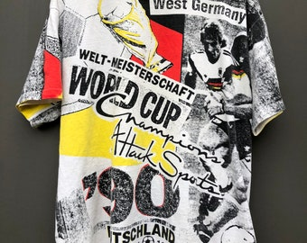 Vintage Germany World Cup All Over Print T-Shirt