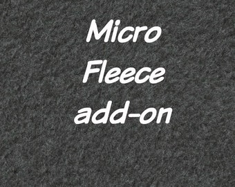 Warm Micro Fleece lining ADD-ON, to any hat order