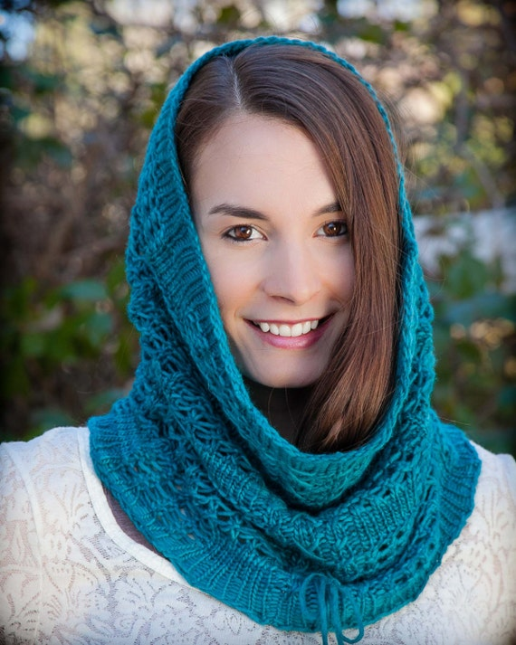 Loom Knit Snood Cowl Pattern Lace Snood Infinity Scarf Easy