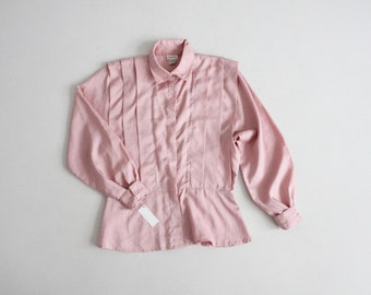 pleated pink blouse   armor blouse   dusty pink blouse