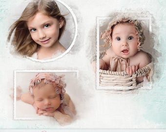 Adorable Frame Art for Photographers -  Frame with Photo Mask - INSTANT DOWNLOAD