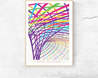 Pride in London Prints. A Special Edition of London King's Cross and Old Truman Brewery. Wall Art, Home Decor, London Prints