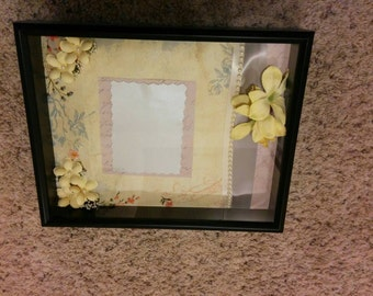 Shadow box- yellow