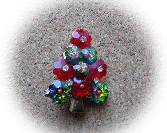G10: Vintage Rhinestone Christmas Tree