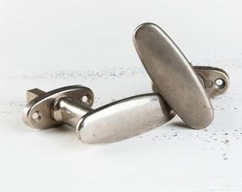 Vintage metal door handle, old metal door knob ,set of two door handle, door decor, door handle