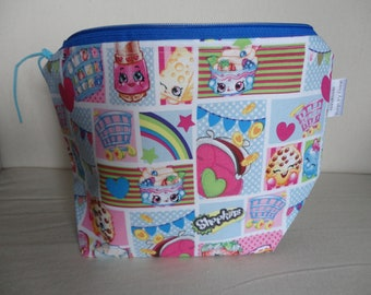 Shopkins - Blue - Zipper Project Bag