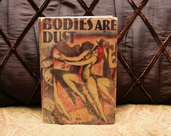 "Noir Rare Book: ""Bodies Are Dust"" PJ Wolfson Vintage Grosset & Dunlap w- Original Dustjacket 