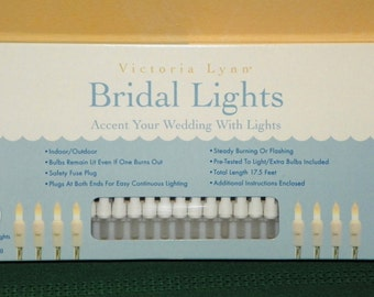 50 FROSTED White Electric String Lights, WHITE Wire, 17.5 Feet of Indoor/Outdoor Lights, Wedding, Showers, Light Garland Arbors Patio Lights