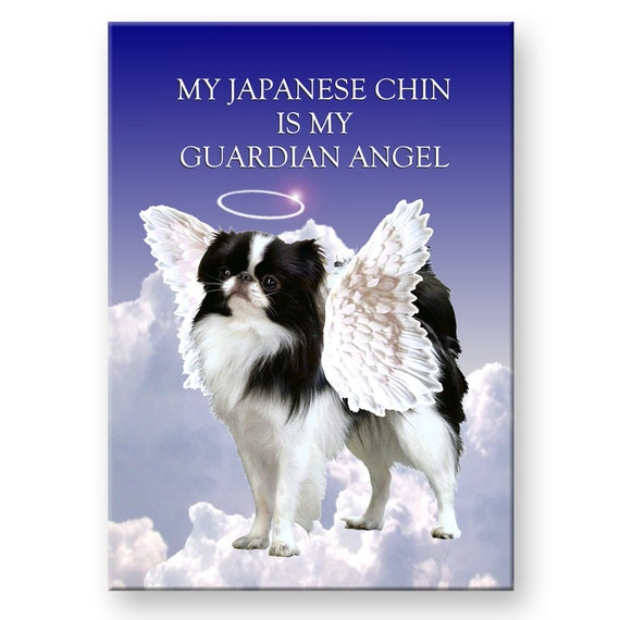 Japanese Chin Guardian Angel Fridge Magnet