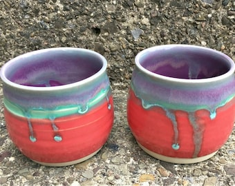 Fire Orchid Tea/Wine Cups