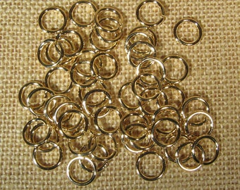 12mm 14ga Gold Plated Jump Rings - Choose Your Quantity