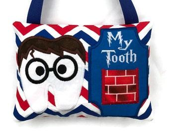 Boys Tooth Fairy Pillow - Wizard Boy - Kids Tooth Fairy Pillow - Baby Teeth Keepsake - Child's Tooth Fairy