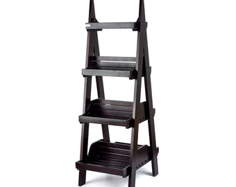 Dark Double-sided 4 Tier Display Stand. Shop display. Floor display. Point of sale. Shelves. - SP165