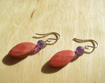 Insouciant Studios Blossom Earrings Chalk Coral Amethyst