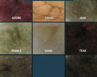 Harrisville Wool Fleece - The Browns - Wool Batt - Felting Fiber - Spinning Fiber - sold by the ounce