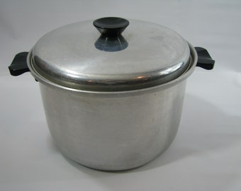 Vintage Mirro Kitchen Pride Aluminum Pot Stockpot 6 Quart