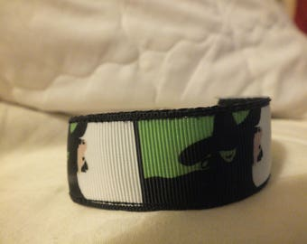 Wicked fabric cuff bracelet 7.5 inches