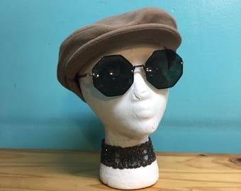 "Vintage ""Popularity"" custom Union made in USA newsboy cabbie cap // size Medium"