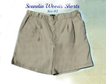 men's shorts,men's dress shorts, casual shorts, men's tan shorts, Size 42, # 5