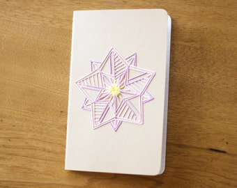 Large Moleskine Journal with Flower Embroidery