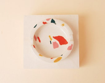Modern Ceramic Ashtray / Terrazzo Tray / Accessories Tray