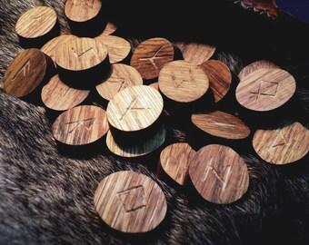 Runes for divination. Handmade. 24