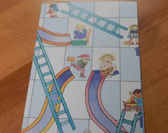 Up Cycled Note Pad Vintage Games Chutes and Ladders