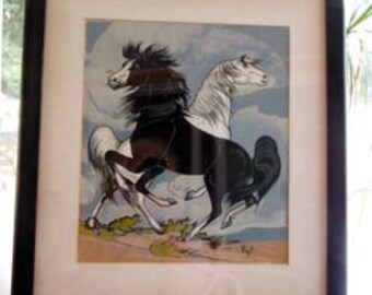 Two Horses by Frank Vigil