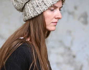 Slouchy Hat Knitting Pattern - WISDOM - Woman's Knit Hat - a set of INSTRUCTIONS to knit the hat