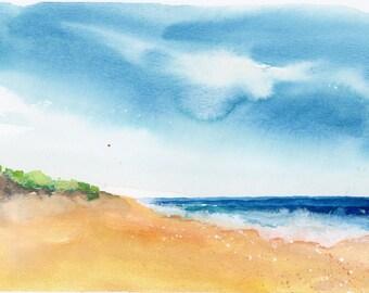 Original Watercolor Painting, Ocean Painting, Landscape, Fine Art, Nature, Modern Art, Minimalist, Garden Floral, Abstract Art, Bohemian