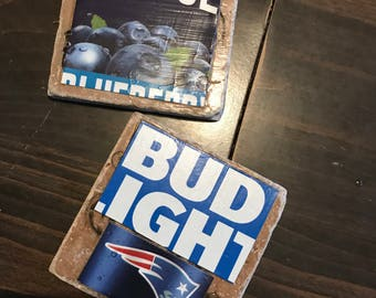 Stone drink coasters set of four