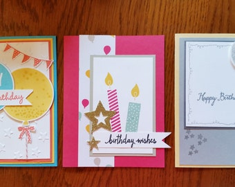 Happy Birthday greeting cards - set of twelve