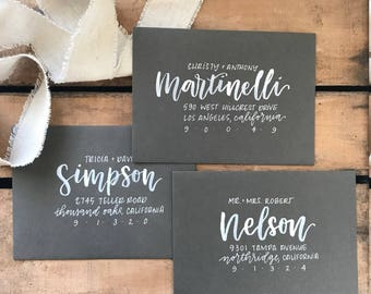 Envelope Addressing - Wedding - Shower - Party - Special Event - Hand Lettered - Brush Calligraphy - Modern Calligraphy