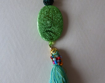 Green Hope necklace - Made in FRANCE