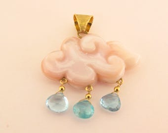 pendant ''MANGA CLOUD'' FREE Shipping - Poetic jewelry - cloud- anime- manga-
