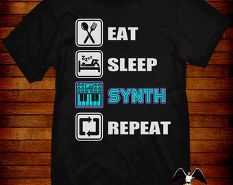 Synthesizer T-shirt keyboard player tee synth synthwave