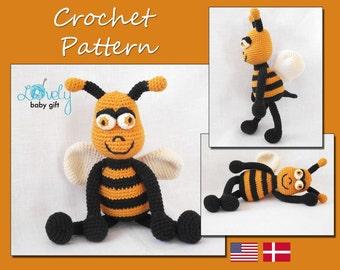 Crochet Pattern, Amigurumi, Bee, Crochet Tutorial, Amigurumi Pattern, Stuffed Toy, CP-116