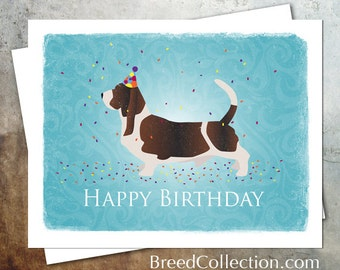 Basset hound cards etsy basset hound birthday card from the breed collection digital download printable bookmarktalkfo Gallery