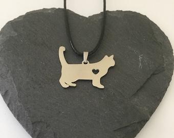 Cat necklace / cat jewellery / cat lover gift / pet jewellery / animal jewellery / animal lover gift