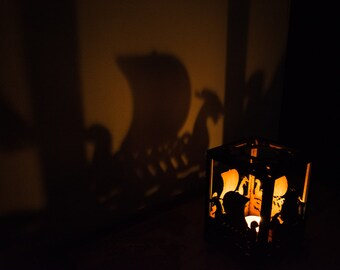 Viking Longboat Candle Holder & Tealight Projector