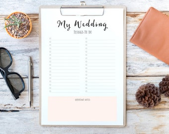 wedding planner printable wedding check list check list printable to do list