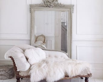 Stunning antique french deconstructed chaise
