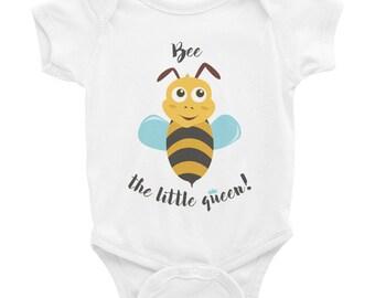 Cute bee the little bee queen - Baby onesie  - bumble bee baby, baby shower gift