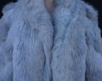 Vintage Fur, 80s Jordache  Jeans Plush Vegan Sable Mink Jacket, 80s Faux Fur, Disco Style Vintage White Thick Fur Coat