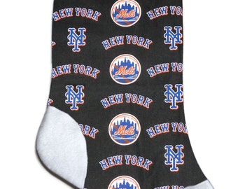 Personalized MLB New York Mets Baseball Christmas Stocking Embroidered