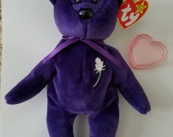 Ty Beanie Baby - PRINCESS - (2 ERRORS) (Certificate of Authenticity)