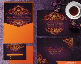 Printable Blue Wedding Invitation Templates Invitation Suite
