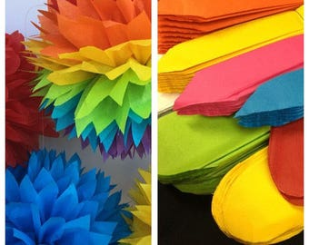 10 Tissue Paper Pom Poms -- Choose Your Colors-- Classroom Decoration/ Nursery/ Bedroom/ Party Decorations tissue pom