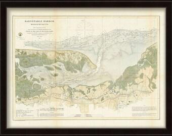 0400-Barnstable Harbor Nautical Chart 1861
