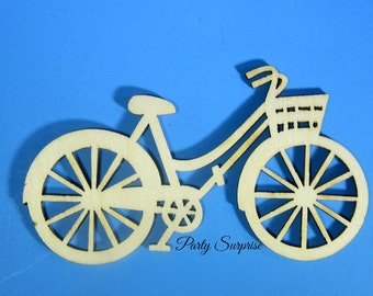 Wooden Bicycle Charms Embellishment Craft Bicycle Unpainted Wood